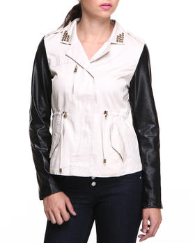 Basic Essentials - Anorak W/Studded Collar