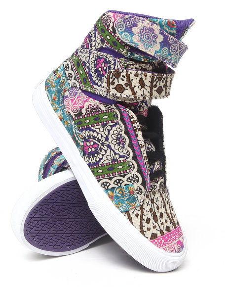 Supra - Women Multi Society Patterned Textile Sneaker