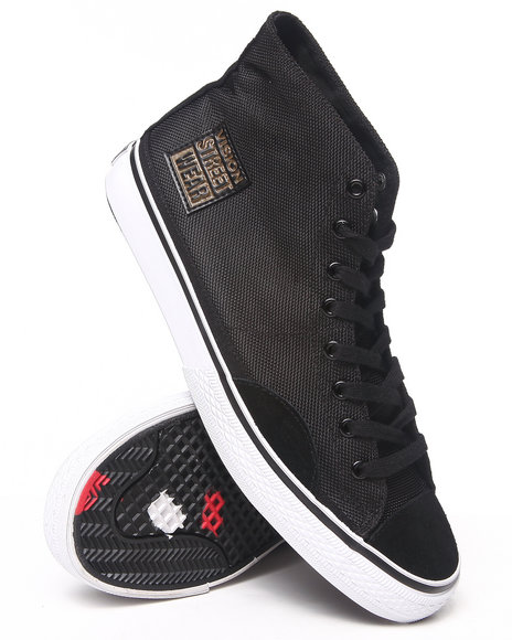 Vision Street Wear Black Nylon Hi Sneakers