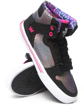 Supra - Vaider Iridescent Snakeskin and Suede Sneakers