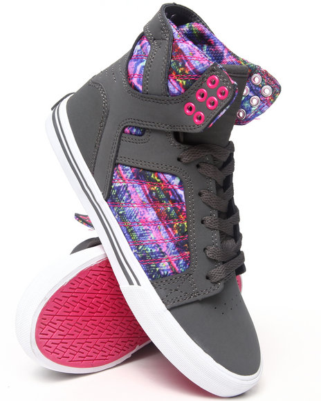 Supra Charcoal,Multi Skytop Multi-Colored Molin Print Sneakers