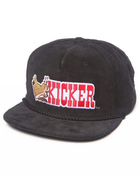 Hall Of Fame Kicker Corduroy Snapback Cap Black