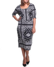 Sets - Bandana Printed 2-Piece w/Top and Skirt (plus)