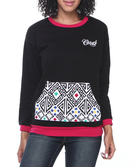 COOGI Black Coogi Pullover Sweatshirt With Pouch