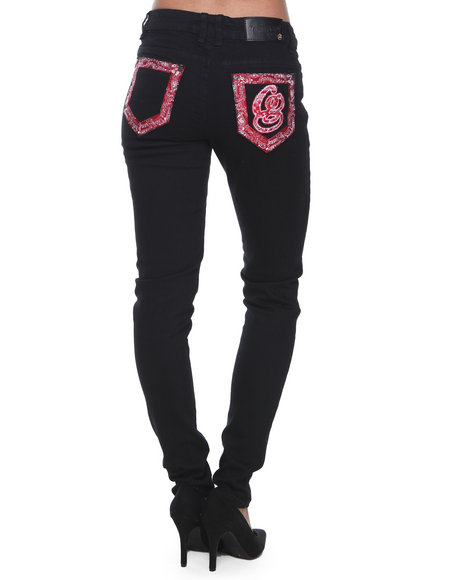 Coogi - Women Black Coogi Delicious Denim Jeans - $18.99
