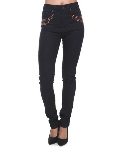 Coogi - Women Black Coogi High Waisted Skinny Jeans