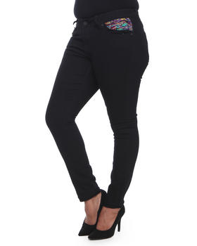 COOGI - Skinny Jeans w/Sweater Embroidery back pocket (plus)