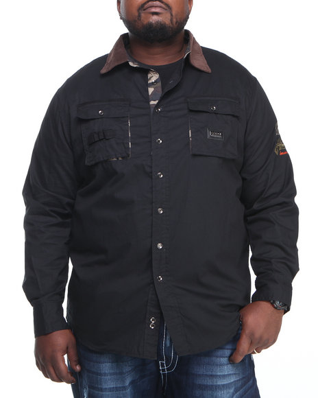 COOGI - Men Black Coogi Sgt. L/S Button Down Shirt (B & T)