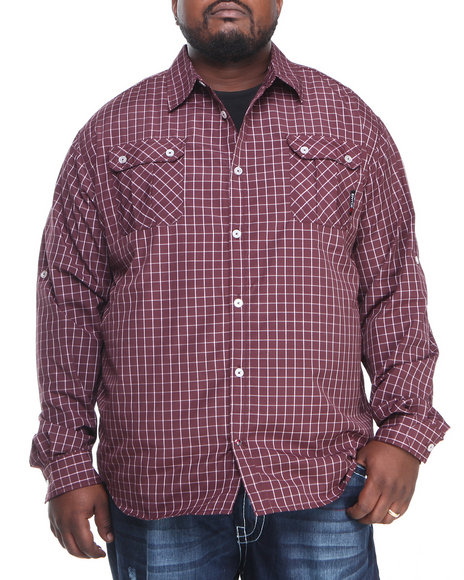 Enyce Red Edward L/S Button-Down (Big & Tall)
