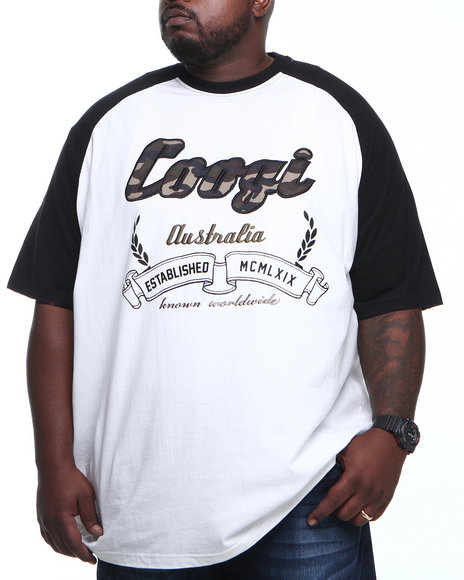 COOGI - Men White Coogi Camo Raglan S/S Tee (B & T)
