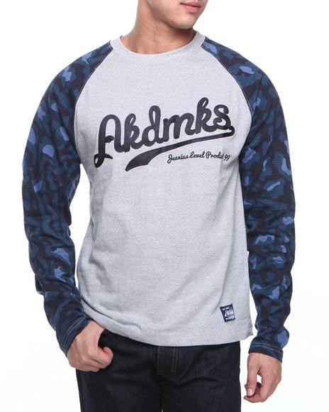 Akademiks Grey D'angelo Leopard Print L/S Shirt