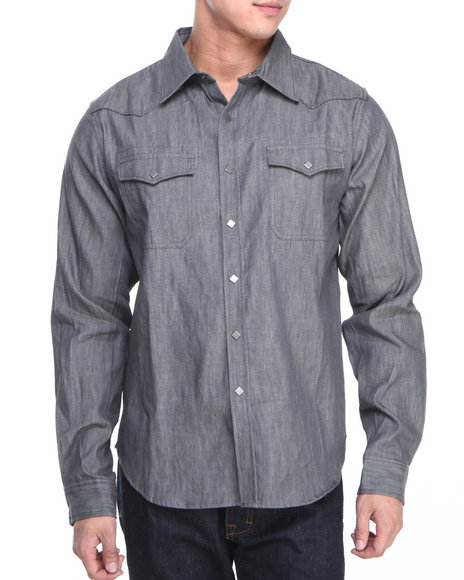 Syn Jeans Grey Button-Downs
