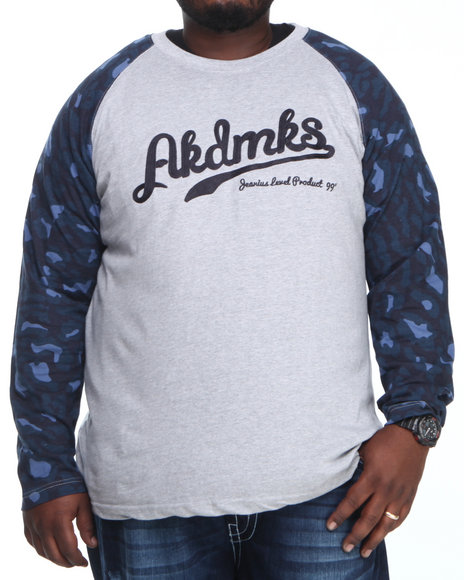 Akademiks Grey D'angelo Leopard Print L/S Shirt (Big & Tall)