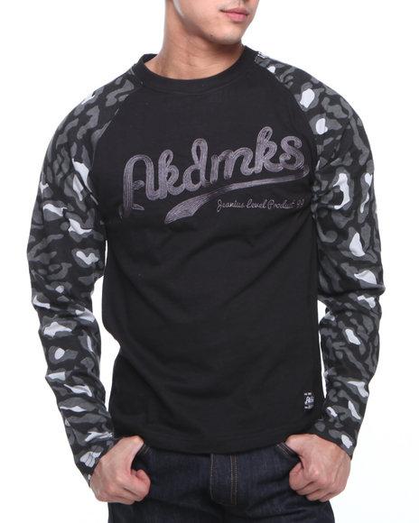 Akademiks - Men Black D'angelo Leopard Print L/S Shirt
