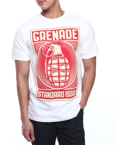 Grenade White Etched Bomb Tee