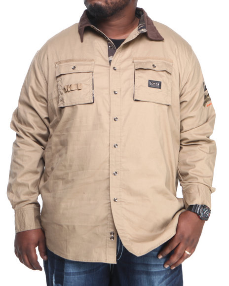 Coogi Brown Button-Downs