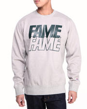 Hall of Fame - Stacked Block Crewneck Fleece Sweatshirt