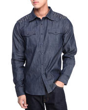 Syn Jeans - Western Stud Denim Button-Down