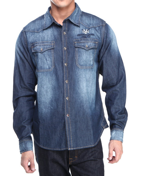 Syn Jeans Medium Wash Button-Downs