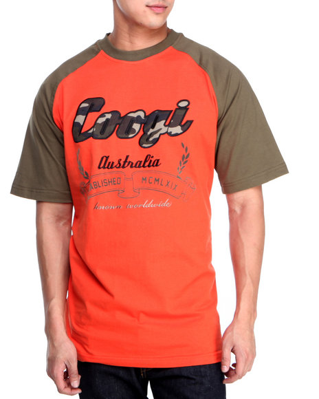 COOGI - Men Orange Coogi Camo Raglan S/S Tee