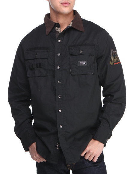 COOGI Black Coogi Sgt. L/S Button Down Shirt