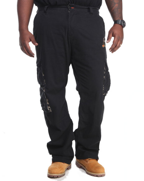 COOGI Black Coogi Cargo Pants (Big & Tall)