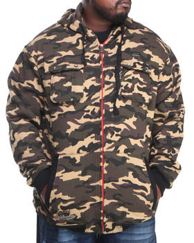 COOGI - Coogi Camo Dual Pocket Full zip hoody (B&T)