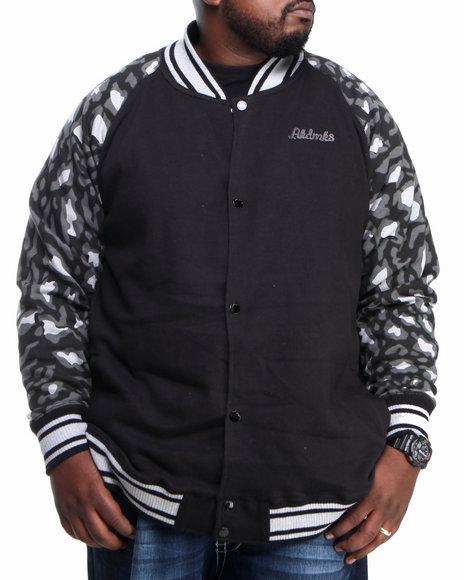 Akademiks - Men Black Ali Leopard Print Jacket (B & T)