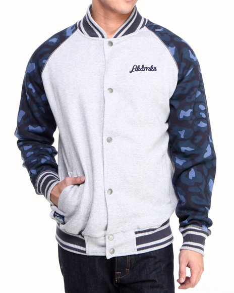 Akademiks - Men Grey Ali Leopard Print Jacket