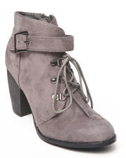 Fashion Lab - Leuven Bootie w/buckle detail