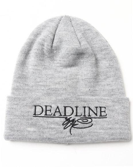 Deadline Deadline X Ssur Printed Logo Beanie Grey