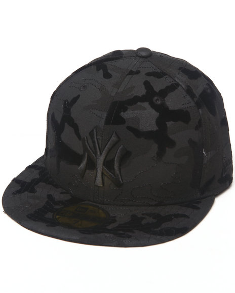 New Era Black New York Yankees Tonal Camo 2 5950 Fitted Hat