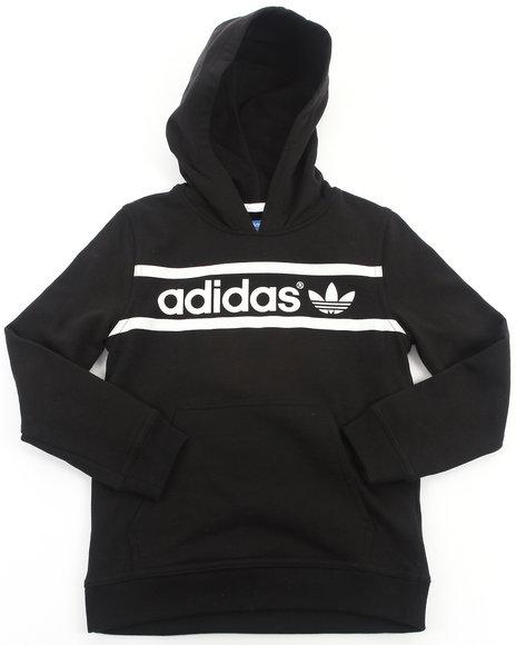 Adidas - Boys Black Heritage Logo Hoody