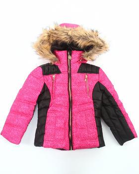 COOGI - Camo Print Puffer Jacket w/ Faux Fur Hood (4-6x)