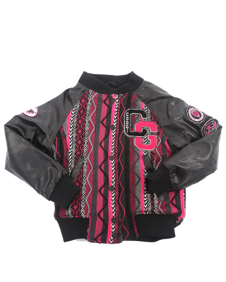 COOGI - Girls Black Sweater Jacket (7-16)