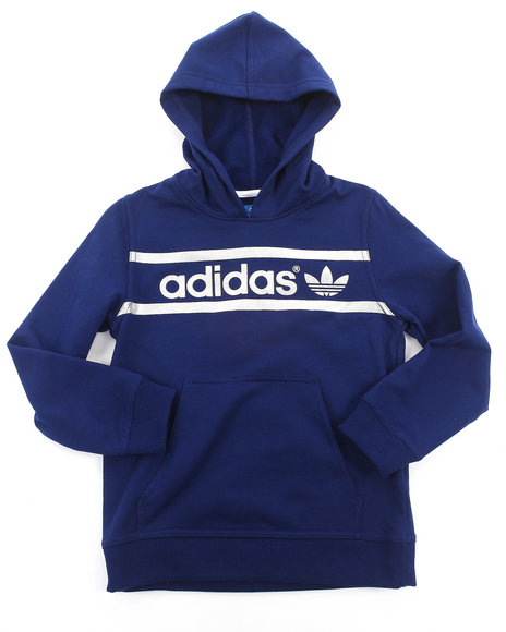 Adidas - Boys Navy Heritage Logo Hoody