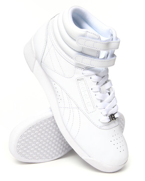 Reebok - Women White Freestyle Hi Sneakers