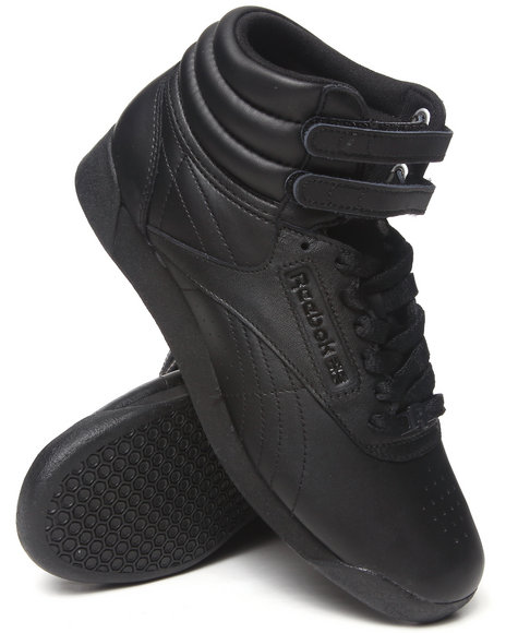 Ur-ID 212687 Reebok - Women Black Freestyle Hi Sneakers
