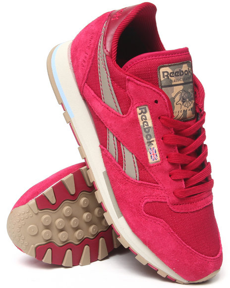 Reebok - Women Pink Cl Leather Utility Sneakers