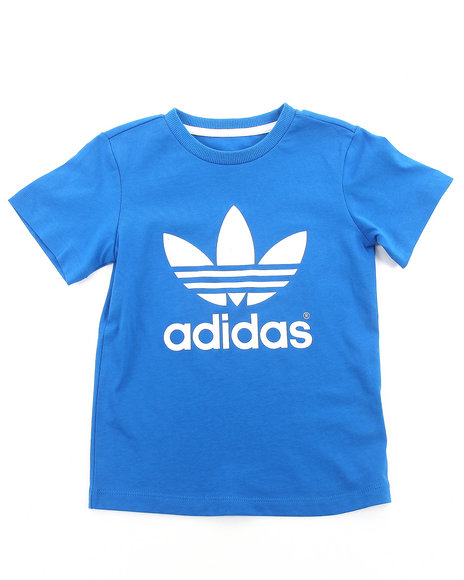 Adidas Boys Blue Trefoil Tee