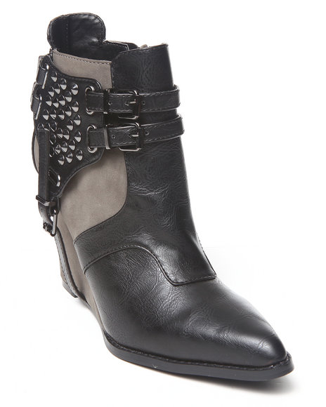 Penny Loves Kenny Black April Wedge Bootie