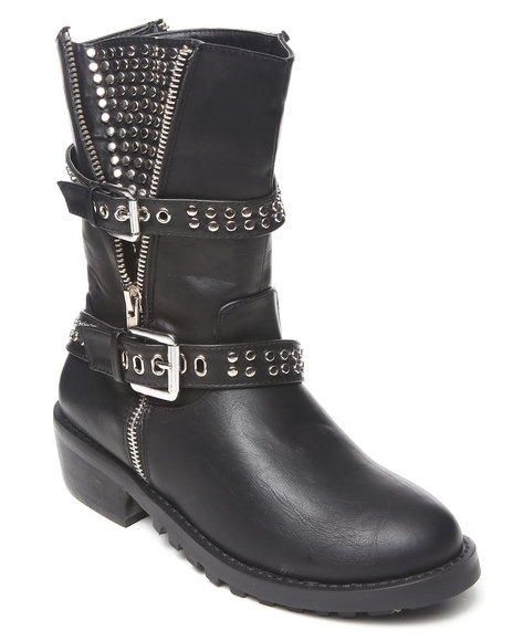 Penny Loves Kenny Black Alice Moto Boot