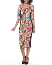 Women - Coogi Printed Midi Dress