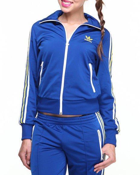 Adidas Blue Adi Firebird Multicolored Track Jacket