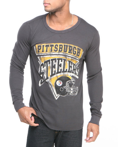Junk Food Black Pittsburgh Steelers Time Out Thermal Shirt