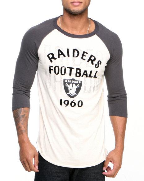 Junk Food Off White Oakland Raiders Rooxie Raglan Shirt