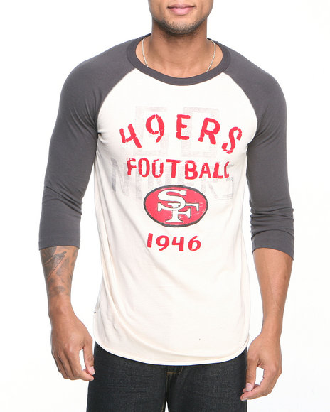 Junk Food Off White San Francisco 49Ers Rooxie Raglan Shirt