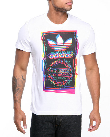 Adidas White Test Pattern Tee