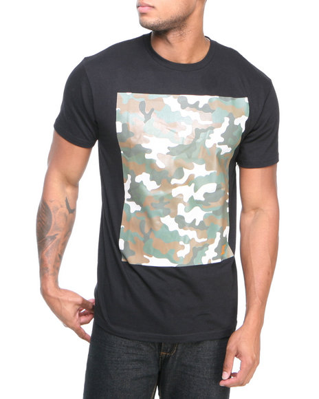 Dc Shoes - Men Black Camooh Tee - $13.99