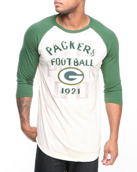Junk Food Off White Green Bay Packers Rooxie Raglan Shirt